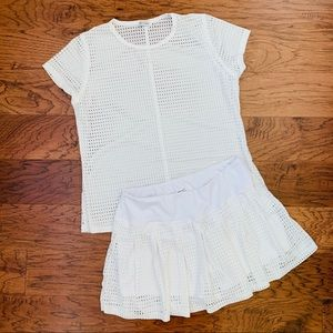 B Passionit White Tennis Outfit - Top & Skort